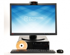 Home Office Komplettpaket 1: ThinkCentre M91p WINDOWS 10 + Monitor - 56 cm (22