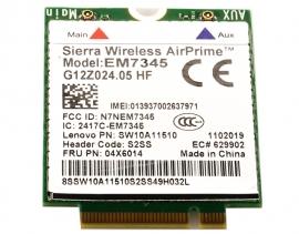 WWAN LTE 4G Sierra Wireless EM7345 für X240 X250 T440 T450 T540 W540 X1 Carbon 3.Gen.