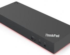 Lenovo Thinkpad USB-C Dock 2.0 40AS mit USB-C Verbindungskabel und Netzteil