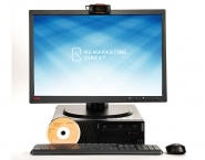 Home Office Komplettpaket 1: ThinkCentre M91p WINDOWS 10 + Monitor - 56 cm (22